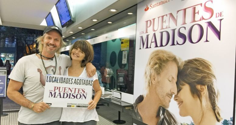 Facundo Arana y Araceli González celebran el ''agotadísimo'' debut de LOS PUENTES DE MADISON