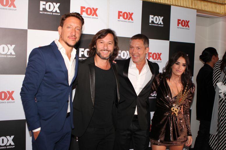 Adrián Suar, Lali Espósito, DiegoTorres, Alejandro Fantino, Martín Bossi en el evento de FOX NETWORKS GROUP LATIN AMERICA en Miami