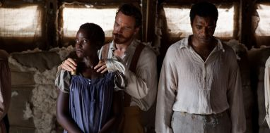 "This image released by Fox Searchlight shows Lupita Nyong'o, from left, Michael Fassbender and Chiwetel Ejiofor in a scene from ""12 Years A Slave."" (AP Photo/Fox Searchlight, Francois Duhamel)"