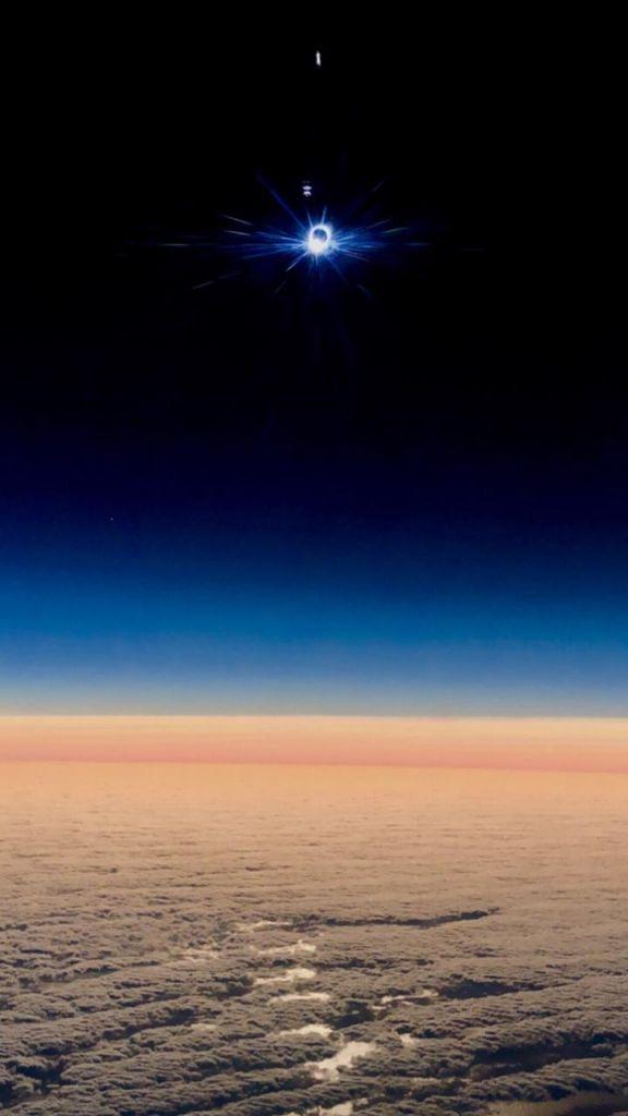 Eclipse desde un avión, National Geographic