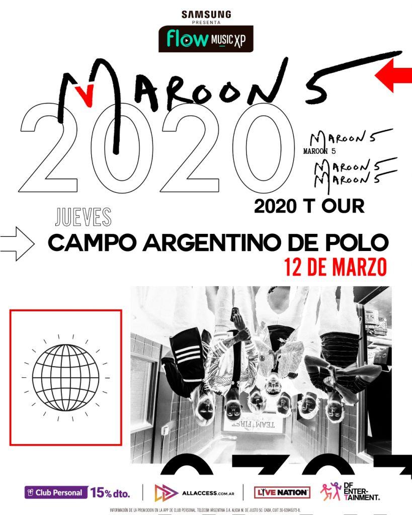 Maroon 5 el 12 de marzo de 2020 en el Campo Argentino de Polo | Flow Music Experience