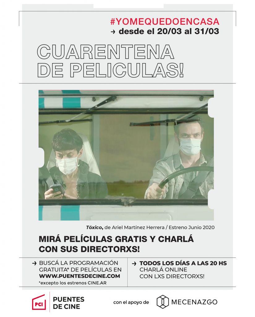 Excelentes repercusiones y segunda semana del ciclo CUARENTENA DE PELÍCULAS!, con debate en vivo junto al director on-line